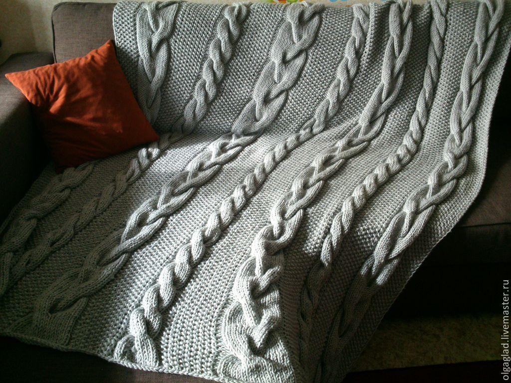 Вязание пледов для взрослых