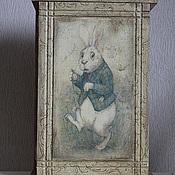 """Для дома и интерьера ручной работы. Ярмарка Мастеров - ручная работа Ключница -""""Белый кролик"""". Handmade."""