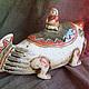 Шкатулки ручной работы. Шкатулка «Путешественники». Красная Панда (owlclay). Ярмарка Мастеров. Оригинальный подарок, скульптура, порядок