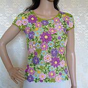 Одежда ручной работы. Ярмарка Мастеров - ручная работа Ирландское кружево Цветочная блузка. Handmade.