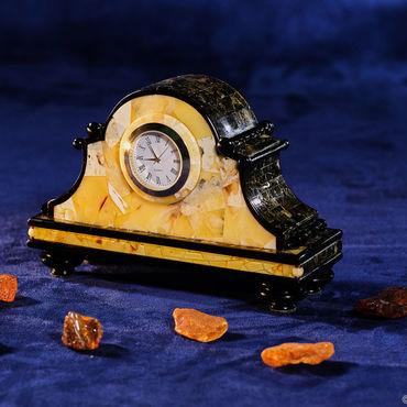 Для дома и интерьера ручной работы. Ярмарка Мастеров - ручная работа Каминные часы из янтаря Барокко. Handmade.