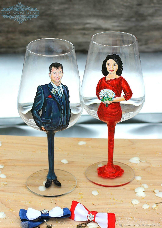 Glasses on a wedding anniversary, Wine Glasses, Velikiy Novgorod,  Фото №1