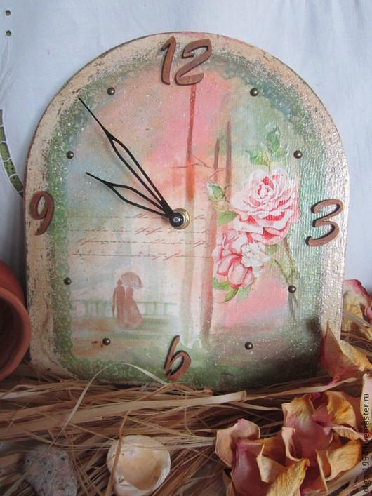 """Часы для дома ручной работы. Ярмарка Мастеров - ручная работа. Купить Часы на заказ """"Может быть..."""". Handmade. Зеленый, любимой"""