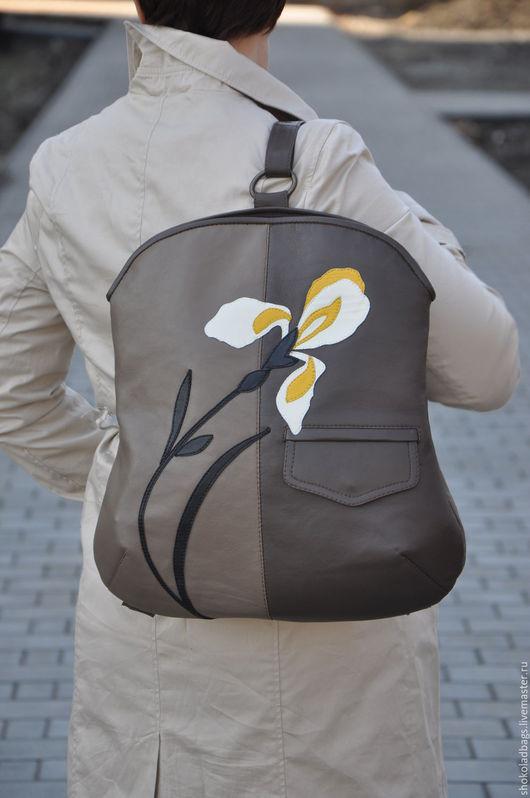 """Женские сумки ручной работы. Ярмарка Мастеров - ручная работа. Купить Кожаный рюкзак - сумка """" Невыносимая легкость бытия"""". Handmade."""