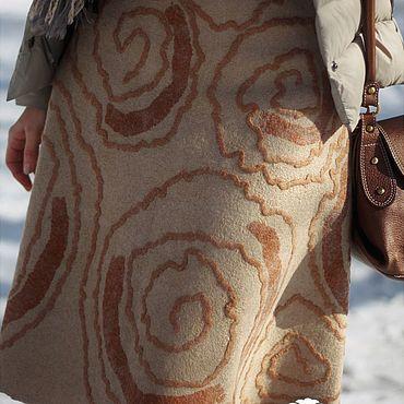 """Одежда ручной работы. Ярмарка Мастеров - ручная работа Валяная юбка """"Рисунки на песке"""".. Handmade."""