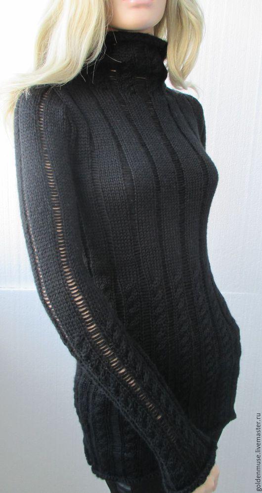 Кофты и свитера ручной работы. Ярмарка Мастеров - ручная работа. Купить Свитер черный. Handmade. Черный, свитер с косами