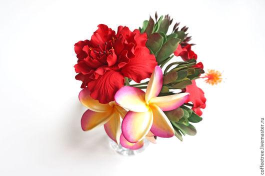 Свадебные цветы ручной работы. Ярмарка Мастеров - ручная работа. Купить Тропический букет. Handmade. Тропические цветы