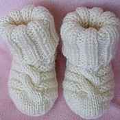 Работы для детей, ручной работы. Ярмарка Мастеров - ручная работа Первые носочки, пинетки. Handmade.