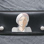 Сумки и аксессуары handmade. Livemaster - original item MANGA, ANIME purse leather.... Handmade.