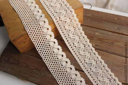 Шитье ручной работы. Ярмарка Мастеров - ручная работа. Купить Кружево, хлопок - 7,3 см, 2 вида. Handmade.