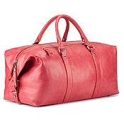 Сумки и аксессуары handmade. Livemaster - original item Leather travel sport bag (red). Handmade.