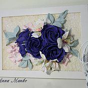 Для дома и интерьера ручной работы. Ярмарка Мастеров - ручная работа картина с цветами. Handmade.