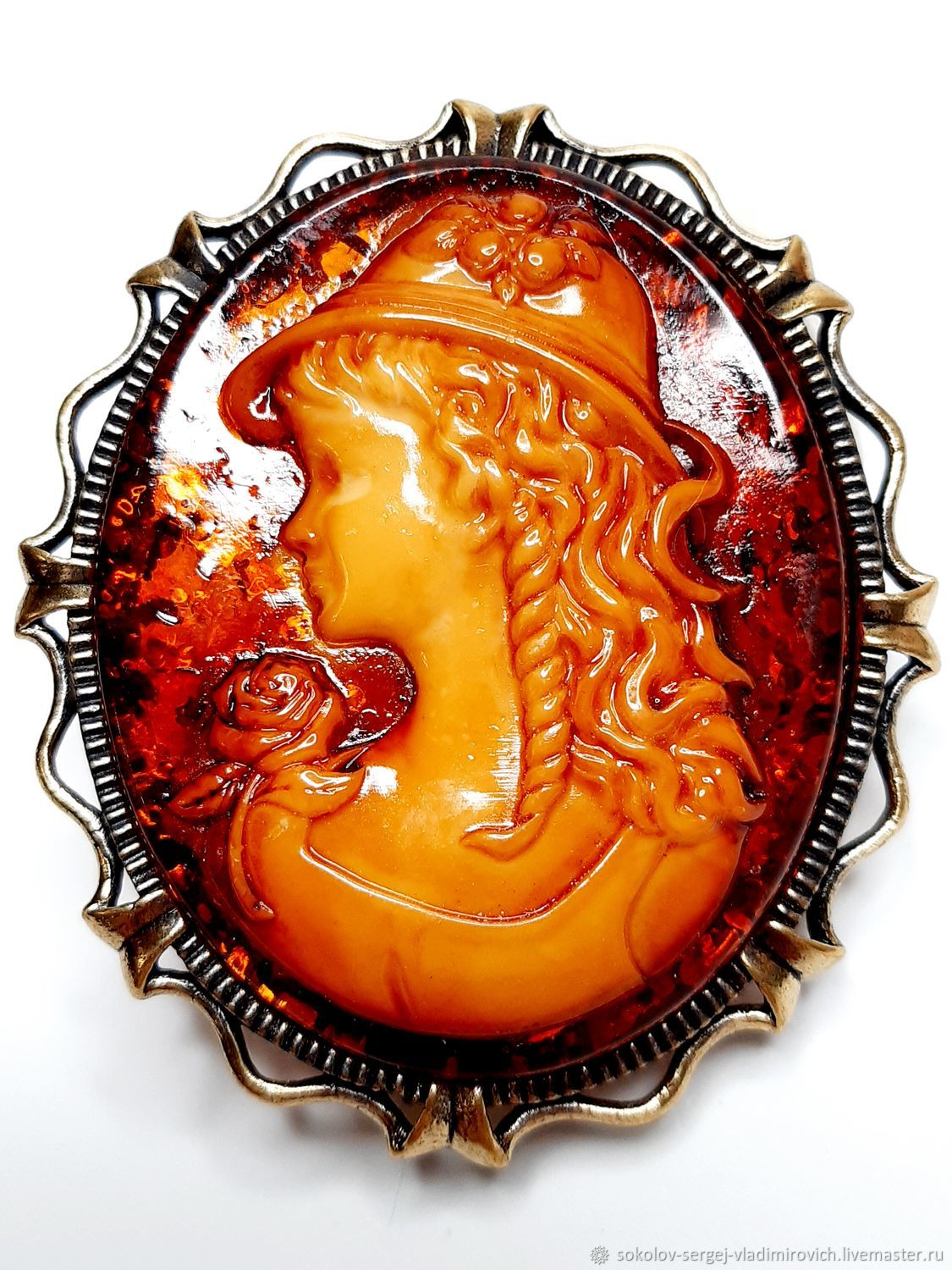 Brooch Cameo Youth, Brooches, Moscow,  Фото №1