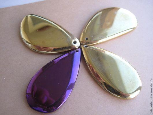 Для украшений ручной работы. Ярмарка Мастеров - ручная работа. Купить Кулоны агат золотые, тонированные, покрыты краской, тонированные. Handmade.