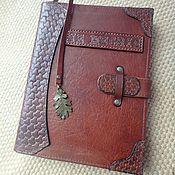 Канцелярские товары handmade. Livemaster - original item A5 leather notebook, je mecris ring notebook, gift for a man. Handmade.