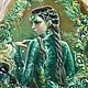 """Кулоны, подвески ручной работы. Ярмарка Мастеров - ручная работа. Купить Кулон"""" Хозяйка.."""". Handmade. Зеленый, украшение, сказы"""