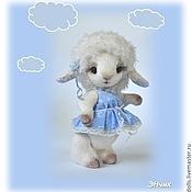 """Куклы и игрушки ручной работы. Ярмарка Мастеров - ручная работа Овечка Дуняша, Коллекция """"Мечтающие в облаках"""". Handmade."""