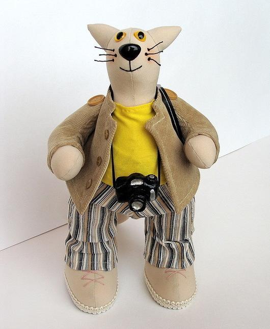 Игрушки животные, ручной работы. Ярмарка Мастеров - ручная работа. Купить Интерьерная игрушка Кот Турист. Handmade. Кот