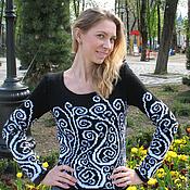 Одежда ручной работы. Ярмарка Мастеров - ручная работа Пуловер Инь-Янь. Handmade.
