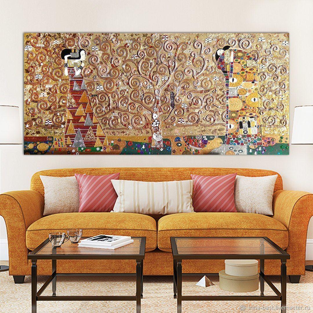 Интерьерная золотая и бронзовая картина Древо жизни. Густав Климт, Картины, Санкт-Петербург,  Фото №1