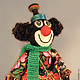 Человечки ручной работы. Ярмарка Мастеров - ручная работа. Купить Клоун Асисяй. Handmade. Оригинальный подарок, сувенир, авторская кукла