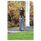 Одежда ручной работы. Ярмарка Мастеров - ручная работа Серая юбка из Итальянской шерсти. Handmade.