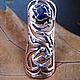 """Кольца ручной работы. Ярмарка Мастеров - ручная работа. Купить кольцо с кианитом """"Amazon"""". Handmade. Серебряный, кольцо из серебра"""