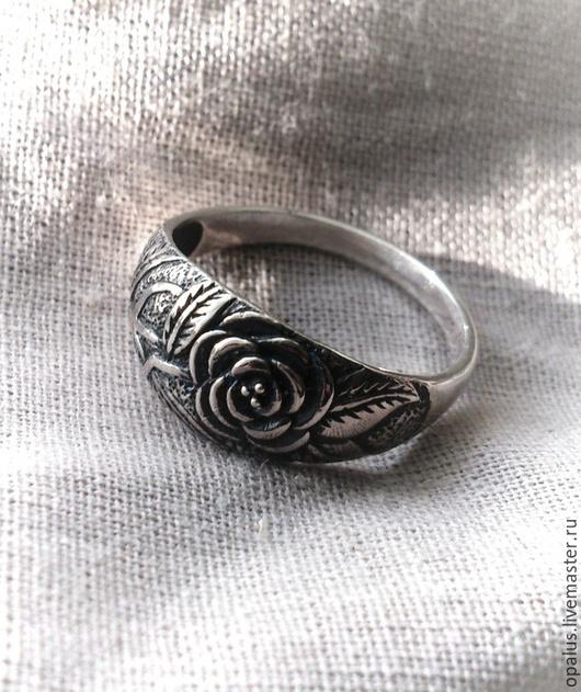 """Кольца ручной работы. Ярмарка Мастеров - ручная работа. Купить кольцо """"Розочка"""". Handmade. Серебряное кольцо, кольцо с розой"""