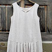 Одежда ручной работы. Ярмарка Мастеров - ручная работа Платье летнее льняное для Елены. Handmade.