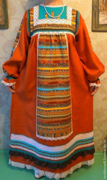 Одежда ручной работы. Ярмарка Мастеров - ручная работа. Купить Стилизованное русское платье. Handmade. Платье, вологодское кружево