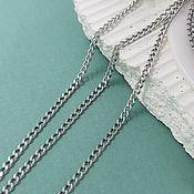 Материалы для творчества handmade. Livemaster - original item 1 m Chain 3x2x0.6. 5635 mm steel (). Handmade.