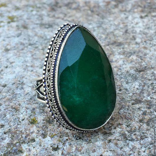 """Кольца ручной работы. Ярмарка Мастеров - ручная работа. Купить Царское кольцо (перстень) с изумрудом """"Изобилие"""". Handmade. Зеленый"""