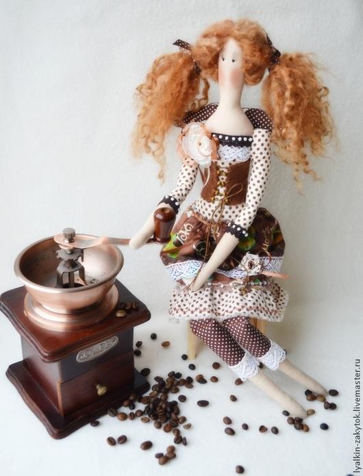 Куклы Тильды ручной работы. Ярмарка Мастеров - ручная работа. Купить Кофейная фея. Handmade. Коричневый, кофейный ангел, хлопок
