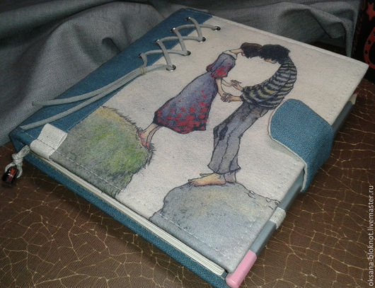 Блокноты ручной работы. Ярмарка Мастеров - ручная работа. Купить Блокнот ручной работы Нас двое (16 х 18 см). Handmade.