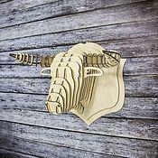 """Элементы интерьера ручной работы. Ярмарка Мастеров - ручная работа Голова """"Бык"""" неокрашенный. Handmade."""
