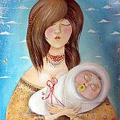 Картины ручной работы. Ярмарка Мастеров - ручная работа Картина маслом с ребенком. Handmade.