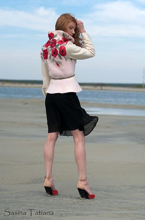 """Пиджаки, жакеты ручной работы. Ярмарка Мастеров - ручная работа. Купить Жакет """"СТРАСТЬ"""". Handmade. Цветы"""