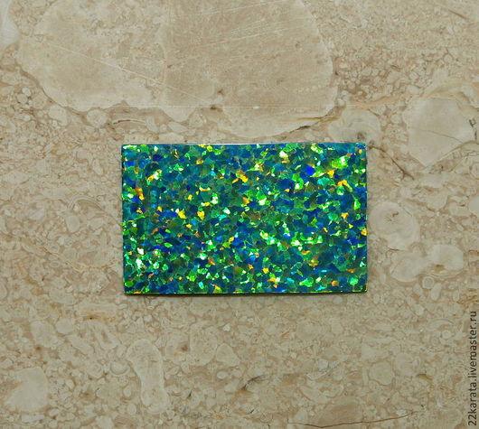 Для украшений ручной работы. Ярмарка Мастеров - ручная работа. Купить Опал пластина синтетический, зеленый 28,5 х 17,5. Handmade.