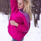 """Одежда ручной работы. Ярмарка Мастеров - ручная работа Вязаный свитер """"Стежка"""". Handmade."""