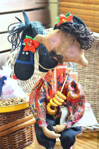 Ароматизированные куклы ручной работы. Ярмарка Мастеров - ручная работа. Купить Мы пойдем с конем.. Николаша и Зорька Чердачная кукла Игрушка Примитив. Handmade.