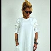 Одежда ручной работы. Ярмарка Мастеров - ручная работа Женское платье ComfortNeo (White). Handmade.