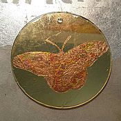 handmade. Livemaster - original item Christmas toy with a shiny butterfly from glass and mirrors. Handmade.