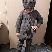 Туники ручной работы. Ярмарка Мастеров - ручная работа Детский вязанный комплект. Handmade.