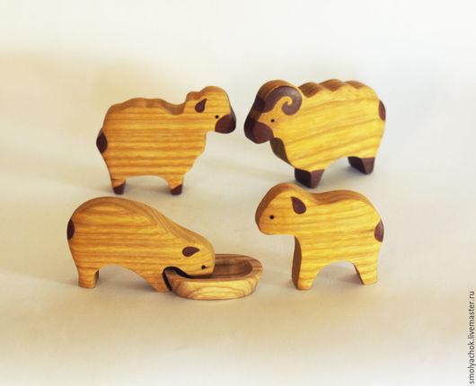 Игрушки животные, ручной работы. Ярмарка Мастеров - ручная работа. Купить Овечки семья. Вальдорфские деревянные игрушки.. Handmade. овцы