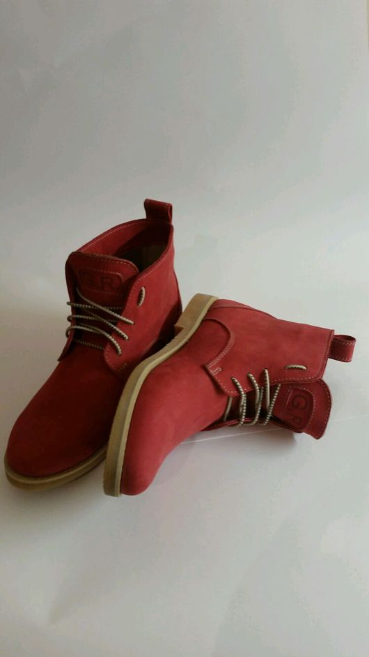 Обувь ручной работы. Ярмарка Мастеров - ручная работа. Купить Ботинки  на шнурках из натуральной кожи. Handmade. Ботинки, женские