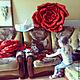 """Интерьерные композиции ручной работы. Ростовой цветок """"Красная Роза"""". Ангелина. Интернет-магазин Ярмарка Мастеров. Свадьба, витрина, гофробумага"""