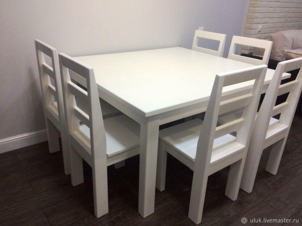 стол и стулья для кухни и гостиной кельн 12x12 купить в