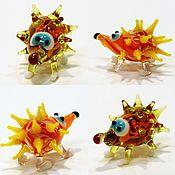 Куклы и игрушки handmade. Livemaster - original item Collectible micro figurine glass township hedgehogs. Handmade.