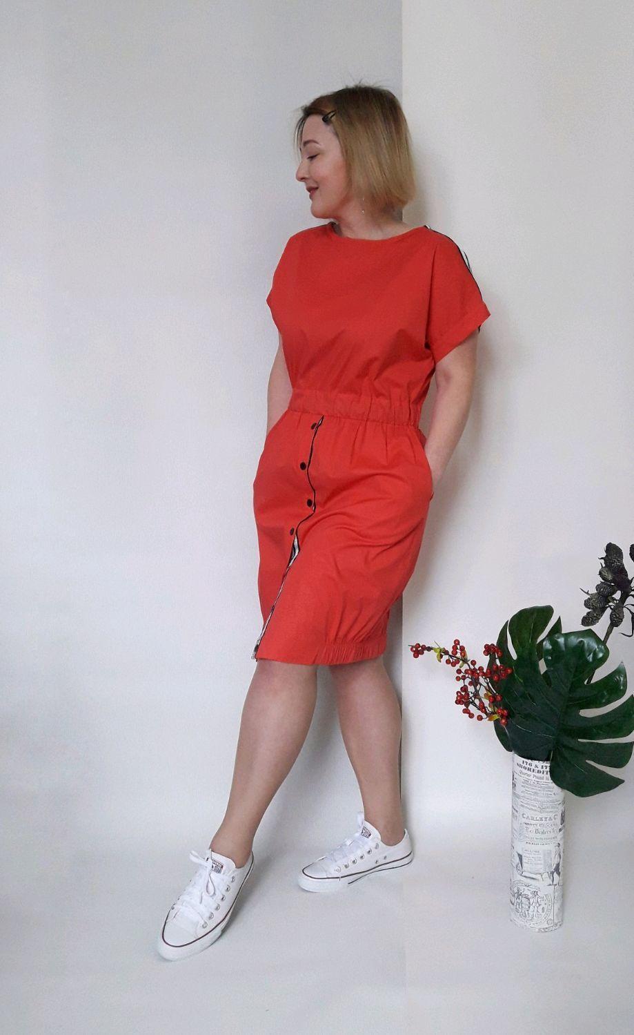 6a280ba72a0 Платья ручной работы. Ярмарка Мастеров - ручная работа. Купить Платье из  хлопка Red.