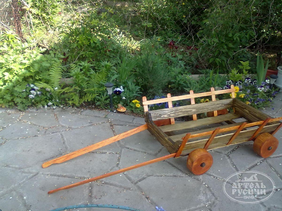 Как своими руками сделать телегу в сад 809